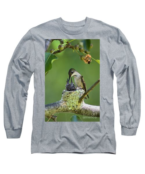 Long Sleeve T-Shirt featuring the photograph Small Family - D009336 by Daniel Dempster