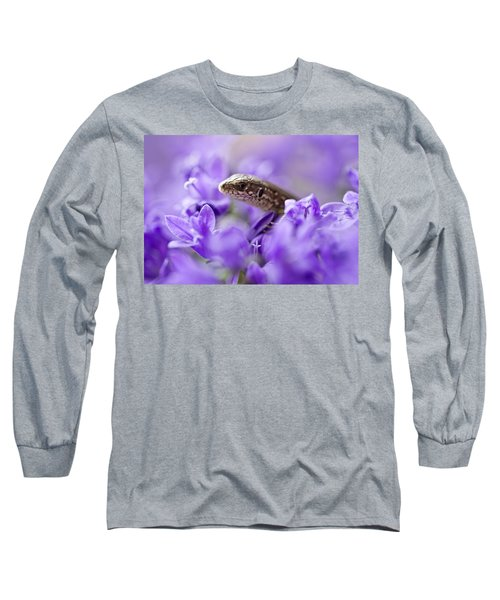 Long Sleeve T-Shirt featuring the photograph Small Lizard by Jaroslaw Blaminsky