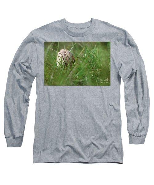 Small Parasol Mushroom In The Grass Long Sleeve T-Shirt