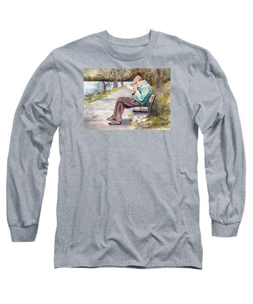 Small Print Long Sleeve T-Shirt