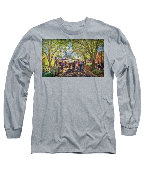 Long Sleeve T-Shirt featuring the photograph Small Town Festival by Lewis Mann