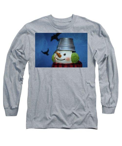 Smiling Snowman Long Sleeve T-Shirt