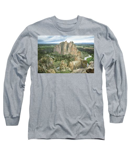 Smith Rock From Misery Ridge Long Sleeve T-Shirt