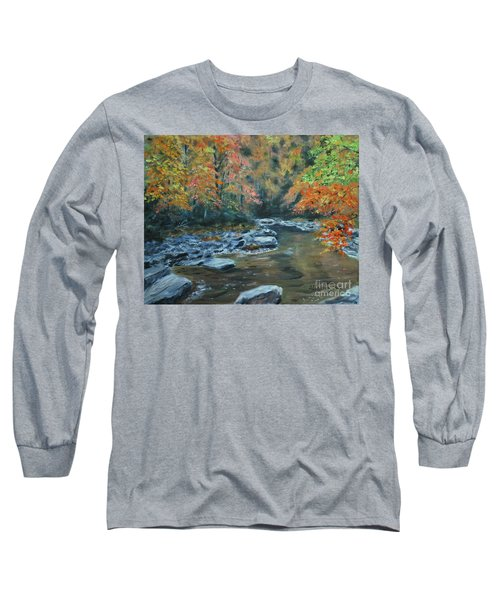 Smokey Mountain Autumn Long Sleeve T-Shirt by Stanton Allaben