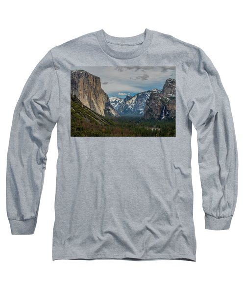 Smokey Yosemite Valley Long Sleeve T-Shirt