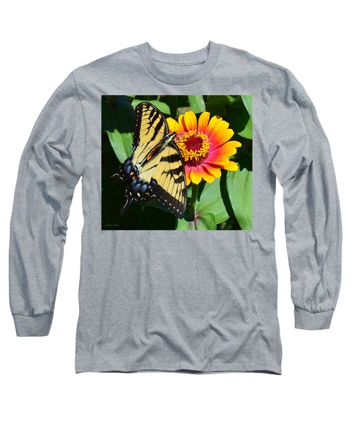 Snacking Tiger Swallowtail Butterfly Long Sleeve T-Shirt