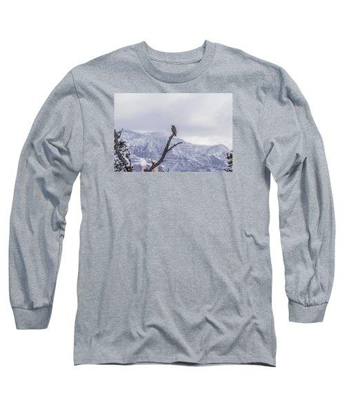 Snow Bird Long Sleeve T-Shirt by Laura Pratt