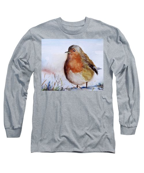 Snow Bird Long Sleeve T-Shirt by William Reed