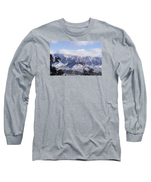 Long Sleeve T-Shirt featuring the photograph Snow Blanket by Laura Pratt