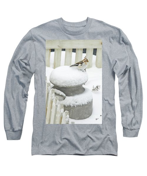 Snow Bunting Long Sleeve T-Shirt
