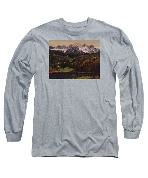 Snow Caped Mountain Long Sleeve T-Shirt