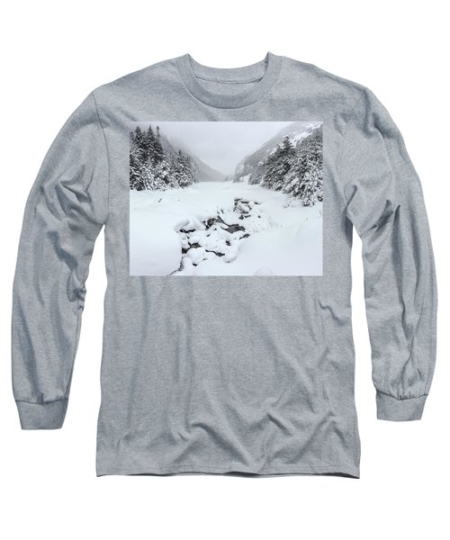 Snow Covered Lake Long Sleeve T-Shirt