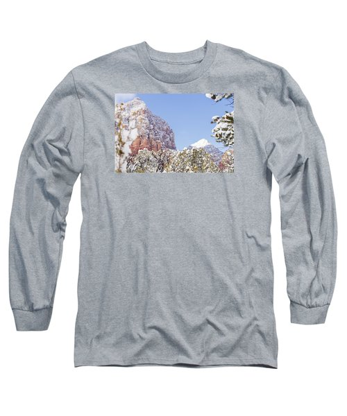 Long Sleeve T-Shirt featuring the photograph Snow Covered by Laura Pratt