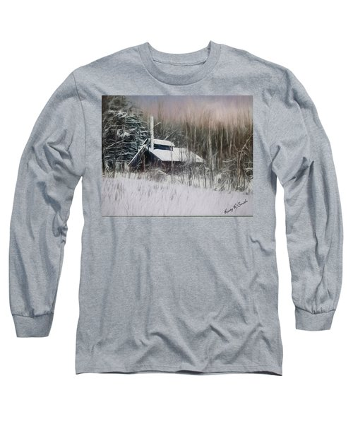 Snow Covered Vermont Sugar Shack.  Long Sleeve T-Shirt