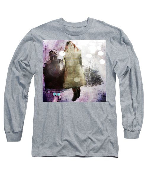 Long Sleeve T-Shirt featuring the digital art Snow Day by Delight Worthyn