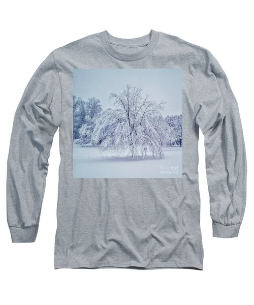 Snow Encrusted Tree Long Sleeve T-Shirt