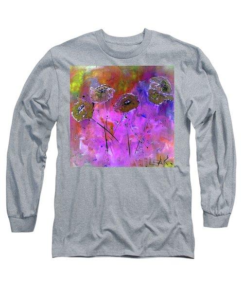 Snow Flowers Long Sleeve T-Shirt by Lisa Kaiser