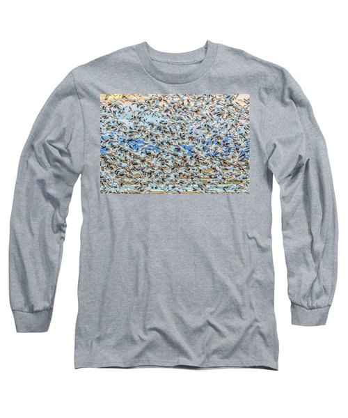 Snow Geese Fly Off Long Sleeve T-Shirt