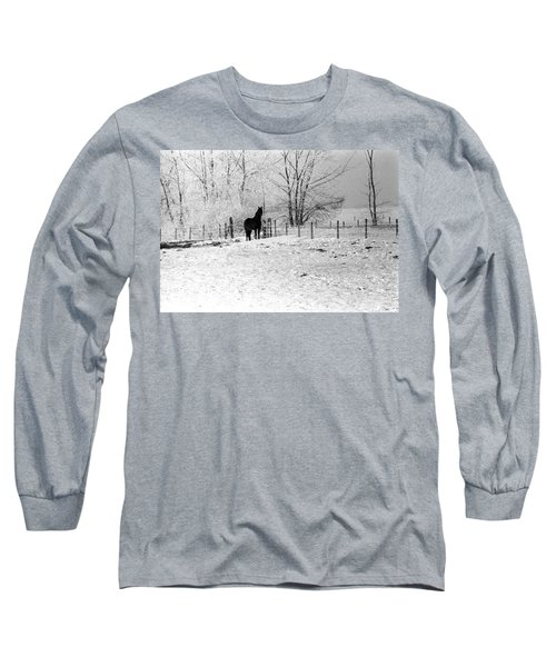 Snow Horse Long Sleeve T-Shirt