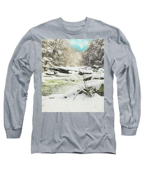 Snow On The Natchaug Long Sleeve T-Shirt
