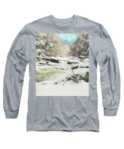Snow On The Natchaug Long Sleeve T-Shirt