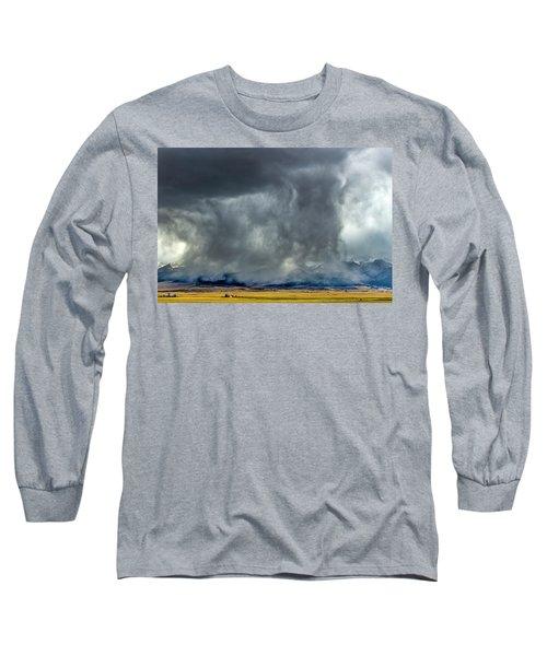 Snow On The Rockies Long Sleeve T-Shirt