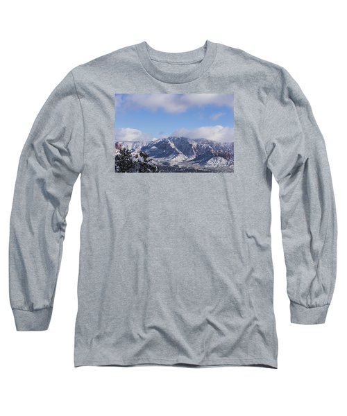 Long Sleeve T-Shirt featuring the photograph Snow Rim by Laura Pratt