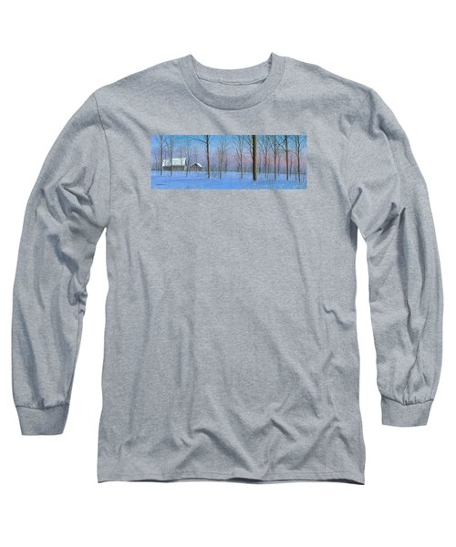 Long Sleeve T-Shirt featuring the painting Snow Spectacle by Mike Brown