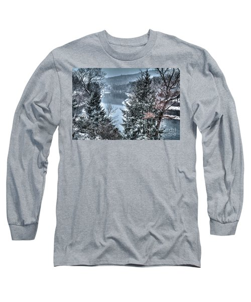 Snow Squall Long Sleeve T-Shirt by Tom Cameron