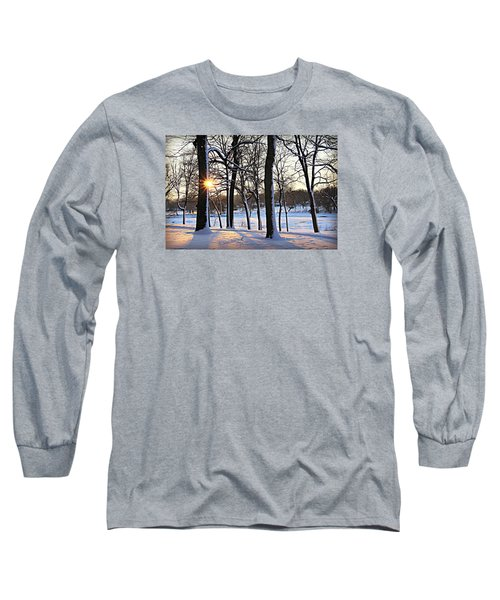 Snow Starred Grove Long Sleeve T-Shirt by Kathy M Krause