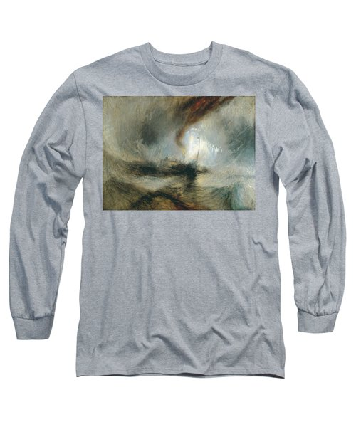 Long Sleeve T-Shirt featuring the painting Snow Storm by Joseph Mallord William Turner