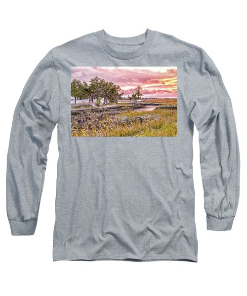 Snow Sunset -marsh View Long Sleeve T-Shirt