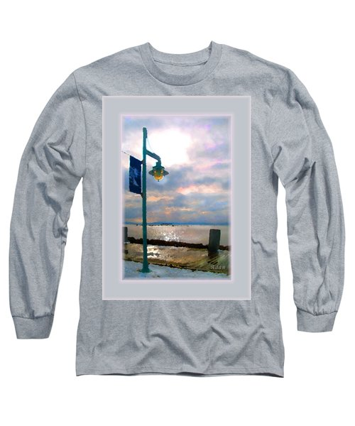 Snow Waterfront Park Walk Long Sleeve T-Shirt by Felipe Adan Lerma