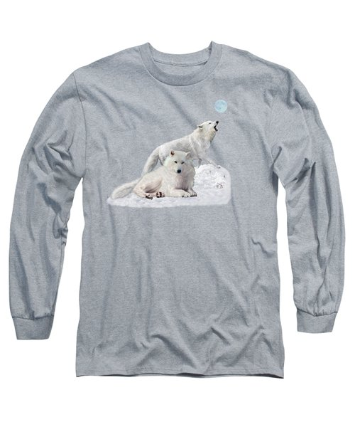 Snow Wolves Of The Wild Long Sleeve T-Shirt
