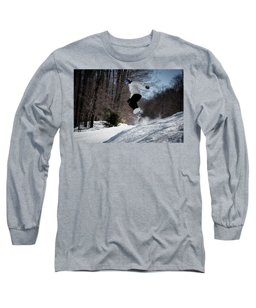 Long Sleeve T-Shirt featuring the photograph Snowboarding Mccauley Mountain by David Patterson