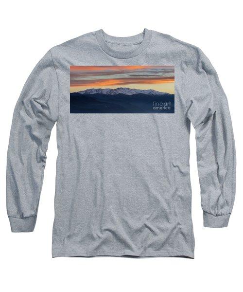 Snowcapped Miapor Range Under Golden Clouds, Armenia Long Sleeve T-Shirt