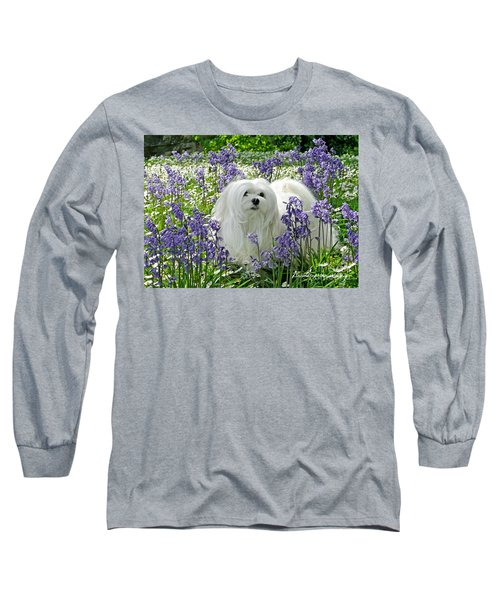 Snowdrop In The Bluebell Woods Long Sleeve T-Shirt