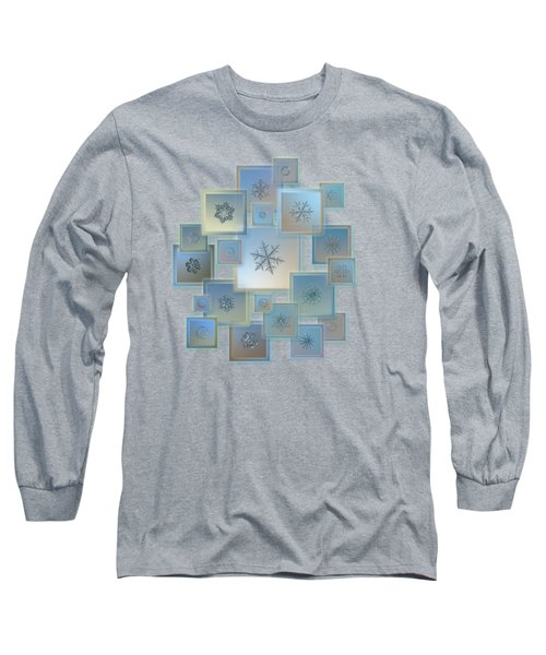 Snowflake Collage - Bright Crystals 2012-2014 Long Sleeve T-Shirt