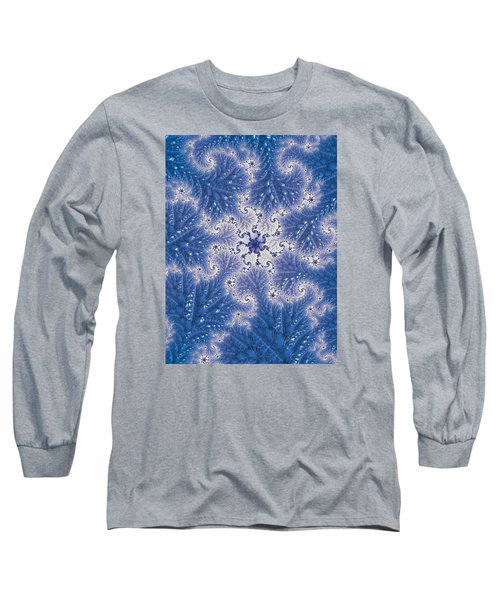 Long Sleeve T-Shirt featuring the photograph Snowflake Embroidered by Ronda Broatch