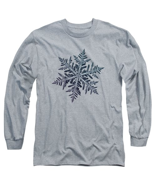 Long Sleeve T-Shirt featuring the photograph Snowflake Photo - Neon by Alexey Kljatov