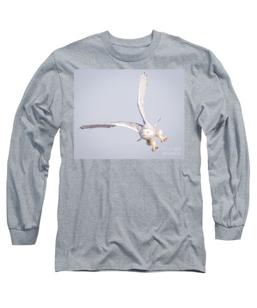 Snowy Owl Flying Dirty Long Sleeve T-Shirt