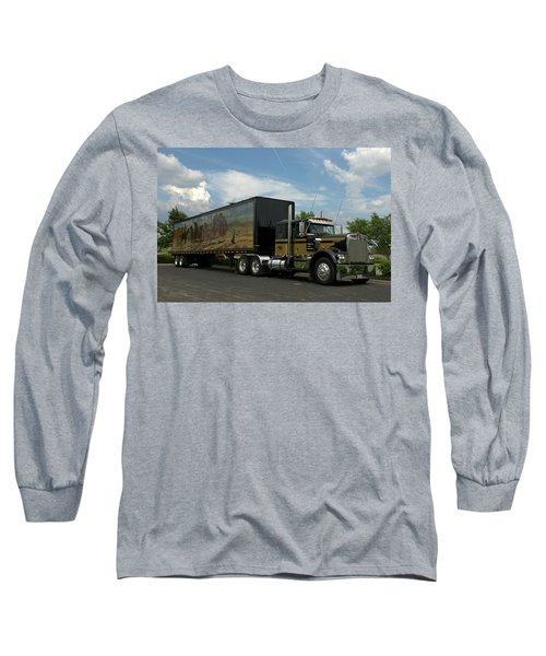 Snowmans Dream Replica Semi Trruck Long Sleeve T-Shirt