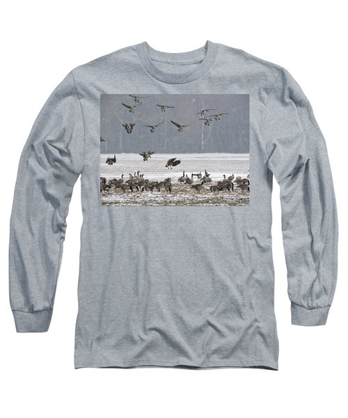 Snowy Approach Long Sleeve T-Shirt