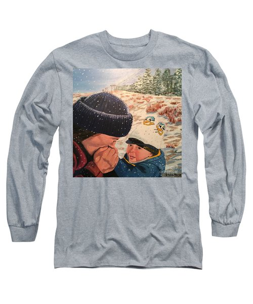 Snowy Day With My Dad Long Sleeve T-Shirt
