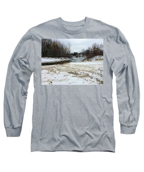 Snowy Elk Rapids River Long Sleeve T-Shirt