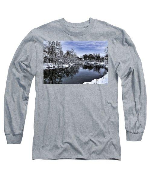 Snowy Ellicott Creek Long Sleeve T-Shirt
