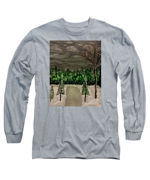 Snowy Field Long Sleeve T-Shirt