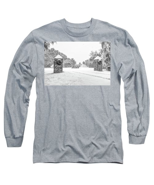 Snowy Gates Of Chisolm Island Long Sleeve T-Shirt