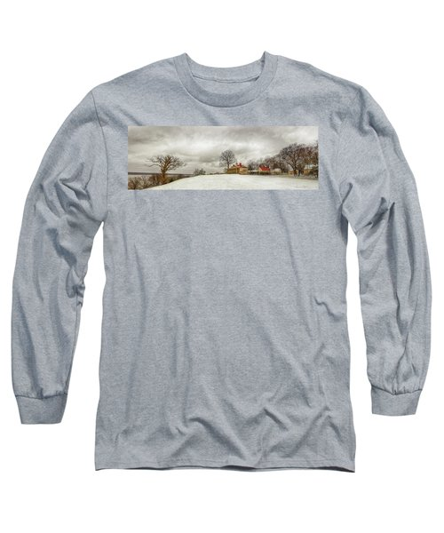 Snowy Mt Vernon Long Sleeve T-Shirt
