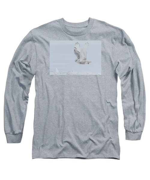 Snowy Owl #3/3 Long Sleeve T-Shirt by Patti Deters